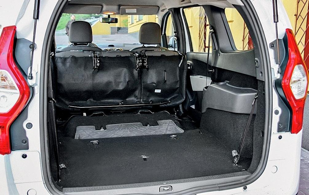 Dacia Lodgy (Дачия Лоджи) багажник