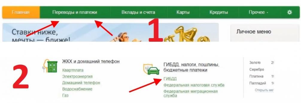 Оплатить штраф по постановлению ГИБДД онлайн Сбербанк